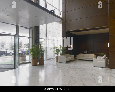 Reception, lobby in a modern hotel - Stock Photo