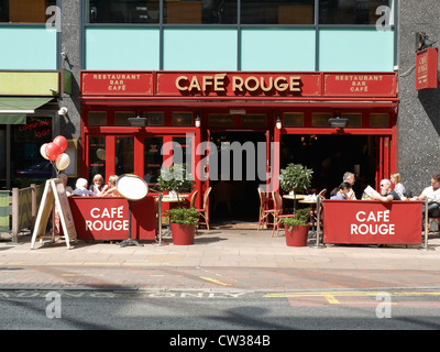 Cafe Rouge on Deansgate in Manchester UK - Stock Photo