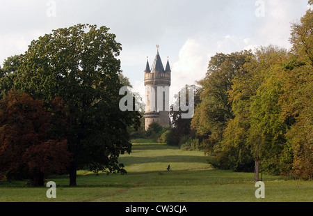 The Flatow Tower in Park Babelsberg, Potsdam - Stock Photo