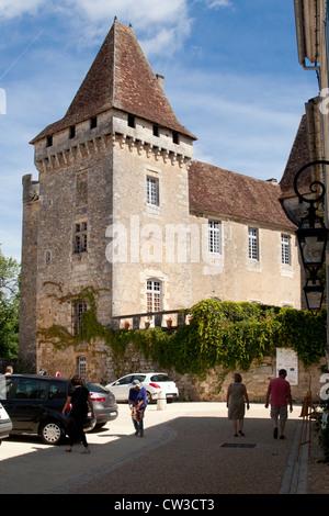 Chateau de la Marthonie in Saint Jean de Cole, Perigord Vert, Dordogne, France - Stock Photo