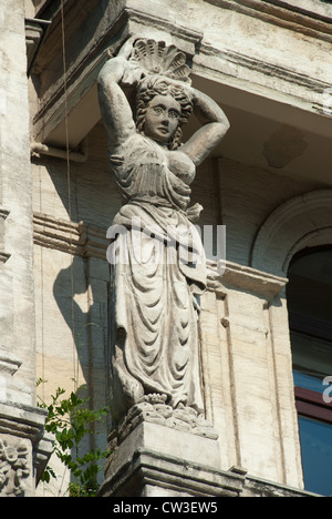 ISTANBUL, TURKEY. Detail on the historic Buyuk Londra Hotel in the Beyoglu district of the city. 2012. - Stock Photo