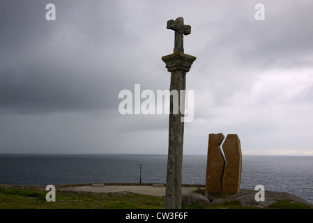 Monument to the Prestige oil spill at Muxia, Galicia, Spain. - Stock Photo