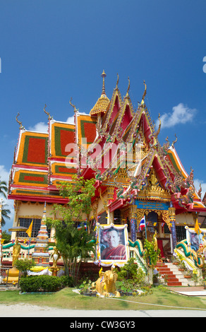Wat Plai Laem temple located on the island of Ko Samui, Thailand. - Stock Photo