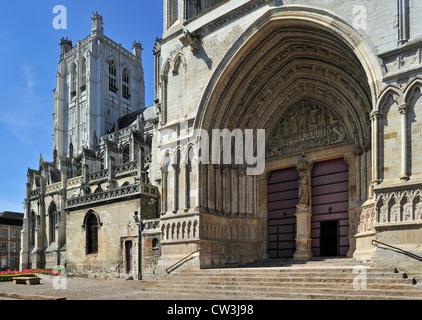 The Saint-Omer Cathedral / Cathédrale Notre-Dame de Saint-Omer at Sint-Omaars, Nord-Pas-de-Calais, France - Stock Photo