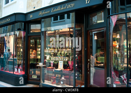 Penhaligon's Perfumers, Burlington Arcade, London, UK - Stock Photo