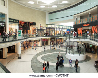 Arndale Centre Manchester Lancashire England - Stock Photo