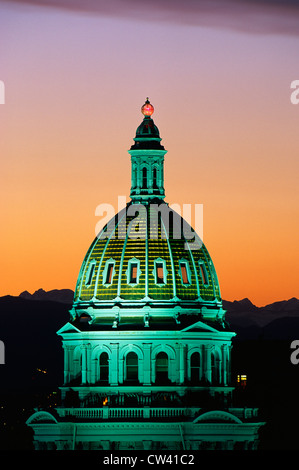 This is the State Capitol Dome taken in morning light. - Stock Photo
