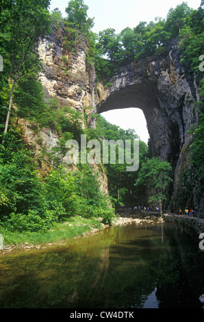 Natural Bridge Virginia VA one Natural Wonders World also known as 'Bridge God' and owned by Thomas Jefferson until - Stock Photo