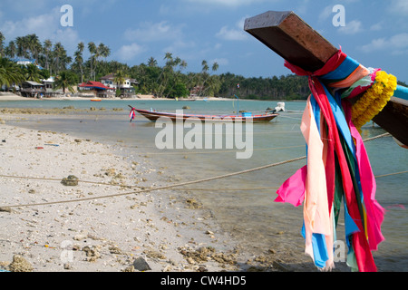 Fishing boats in the Gulf of Thailand on the island of Ko Samui, Thailand. - Stock Photo
