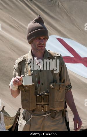 British Army Desert Rat Soldier - Stock Photo