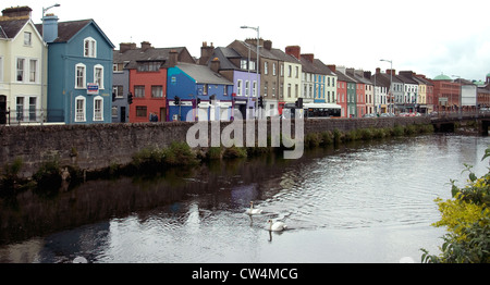 The River Lee, dominant feature in Cork city, Ireland - Stock Photo