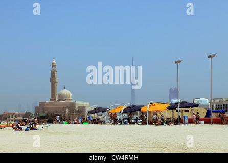 3628. Jumeirah Public Beach, Dubai, UAE. - Stock Photo