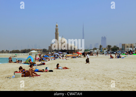 3630. Jumeirah Public Beach, Dubai, UAE. - Stock Photo