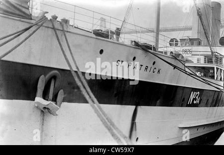 Rouen, English hospital ship 'St-Patrick' - Stock Photo