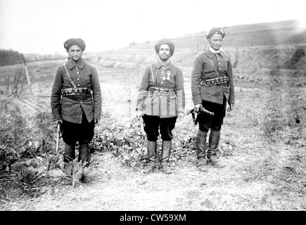 New uniform of the Moroccan cavalry corps in the French army  in North Africa - Stock Photo