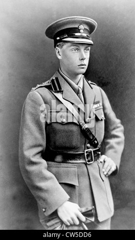 Portrait of Edward, Prince of Wales. (who was to become Edward VIII) - Stock Photo