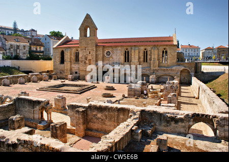 Monastery of Santa Clara Velha in Coimbra, Portugal - Stock Photo