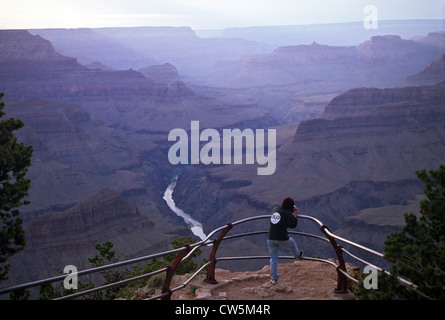 The Grand Canyon is a steep-sided canyon carved by the Colorado River in the United States in the state of Arizona. - Stock Photo