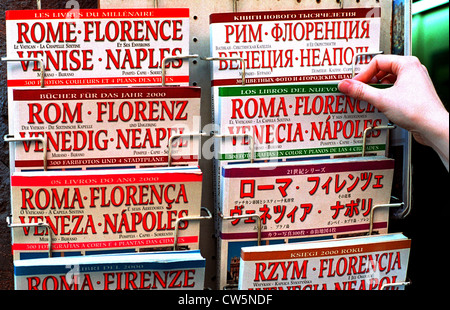 Rome, guides in different languages - Stock Photo