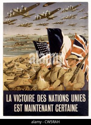 Allied propaganda poster - Stock Photo