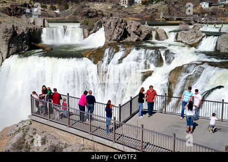 Shoshone Falls is a waterfall located on the Snake River in Twin Falls County, Idaho, USA. - Stock Photo