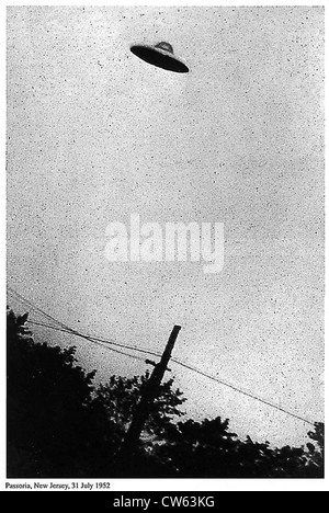 Image of purported UFO, Passoria, New Jersey, USA, 31st July 1952 - Stock Photo