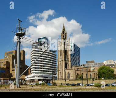 The Parish Church of Liverpool The Church of Our Lady and Saint Nicholas - Stock Photo