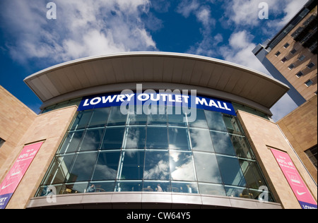The entrance to the Lowry Outlet Mall in Salford Quays near Manchester in England, UK - Stock Photo
