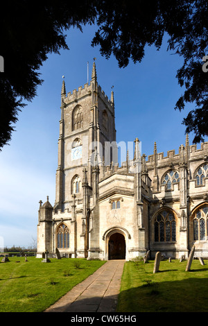 The church of Saint Mary the Virgin in the village of Steeple Ashton in Wiltshire, United Kingdom. - Stock Photo