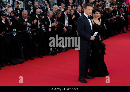 Alec Baldwin and Hilaria Thomas for the opening ceremony and screening of Moonrise Kingdom. - Stock Photo