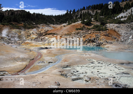 Bumpass Hell, Lassen Volcanic - Stock Photo