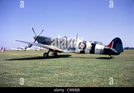 Supermarine Spitfire fighter, World War II. - Stock Photo