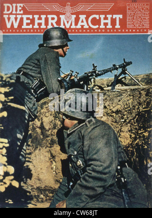 German soldiers on the Eastern Front, World War II. - Stock Photo