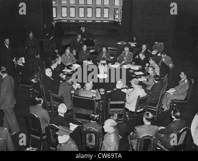 Allied leaders meet at Potsdam (Germany)July 17,1945 - Stock Photo