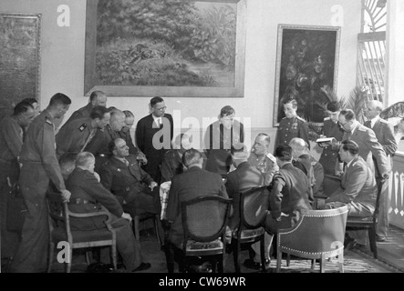 First Meeting of the Allied Control Commission in Berlin (June5,1945) - Stock Photo