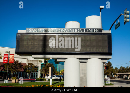 The Santa Clara Convention Center in the Silicon Valley of California - Stock Photo