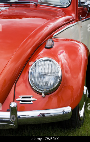 Detail on a Volkswagen beetle car. - Stock Photo