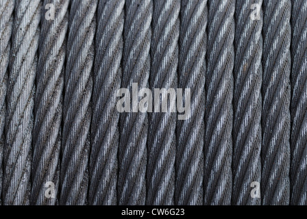 furled wire rope - Stock Photo
