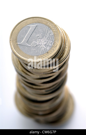batch of euro coins - Stock Photo