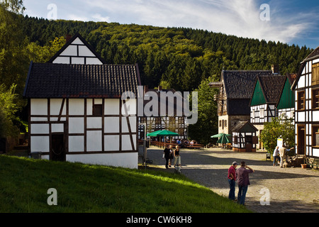 visitors in open-air museum, Germany, North Rhine-Westphalia, Ruhr Area, Hagen - Stock Photo