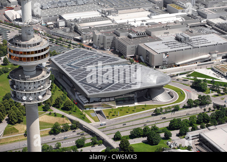 BMW world, Olympia tower, Germany, Bavaria, Muenchen - Stock Photo