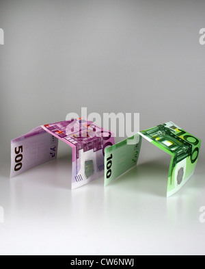 symbolic picture for building costs - Stock Photo