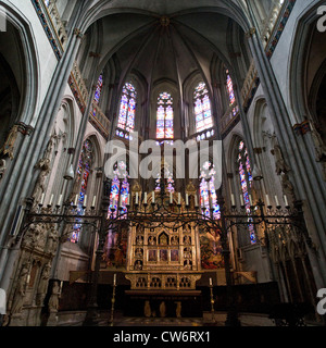 interior of St. Victor's Cathedral, Germany, North Rhine-Westphalia, Xanten - Stock Photo