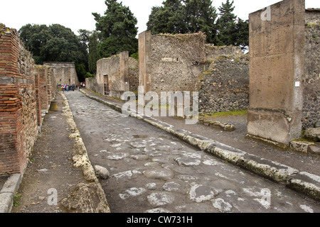 street in the ancient site Pompei, Italy, Pompei - Stock Photo
