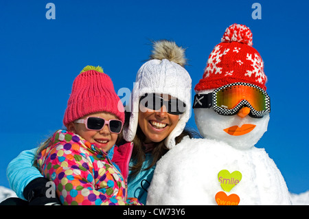 Being silly in the snow stock photo royalty free image for Mother daughter vacation destinations