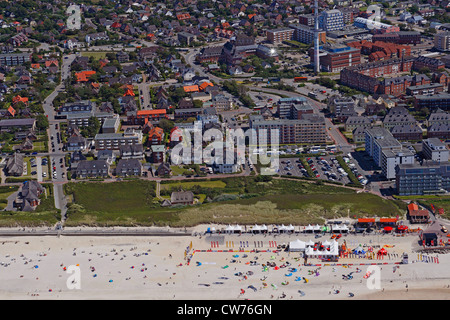 Aerial Photo of Westerland on Sylt, Germany, Schleswig-Holstein, Sylt - Stock Photo