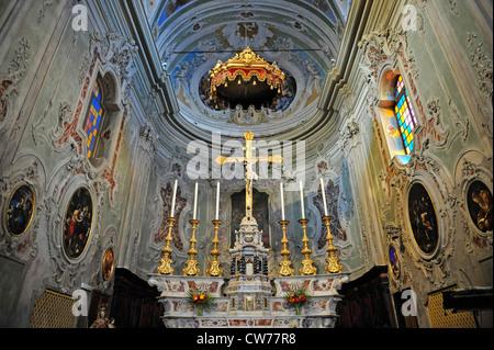 church San Giovanni Battista in Cervo, Italy, Liguria, Riviera dei Fiori - Stock Photo