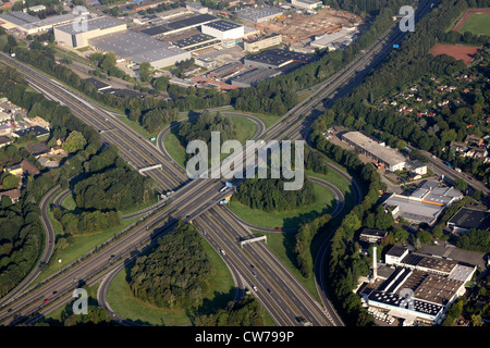 motorway interchange A40 / A43, Kreuz Bochum , Germany, North Rhine-Westphalia, Ruhr Area, Bochum - Stock Photo