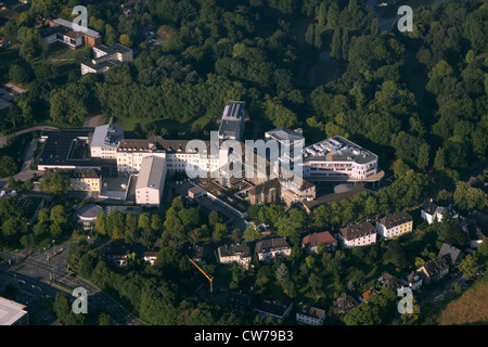 St Josef Hospital, clinical center of Ruhr University Bochum and Bochumer municipal park, Nordrheinwestfalen, Bochum - Stock Photo