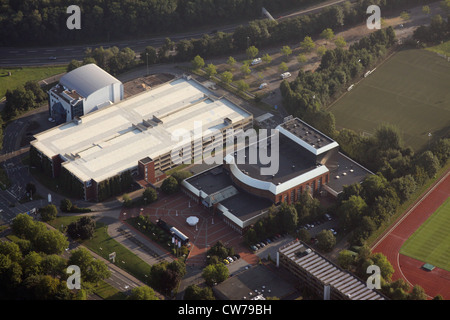 Starlight Express with parking garage, building of former cinema IMAX and highway A40 , Germany, North Rhine-Westphalia, - Stock Photo